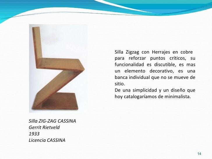 Los arquitectos y sus muebles for Silla zig zag planos