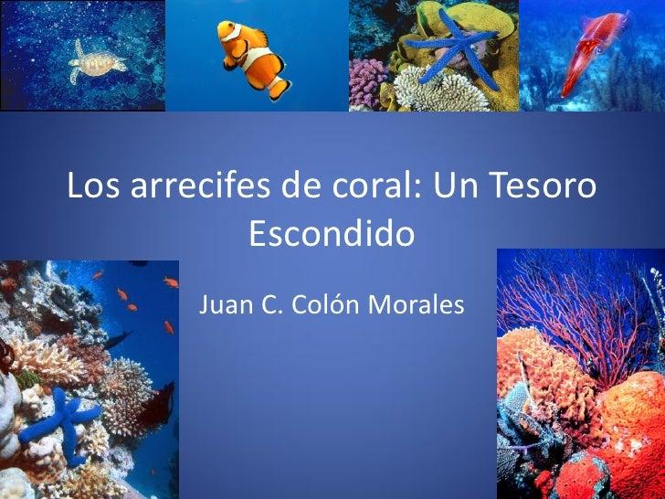 Los arrecifes de coral: Un Tesoro             Escondido         Juan C. Colón Morales