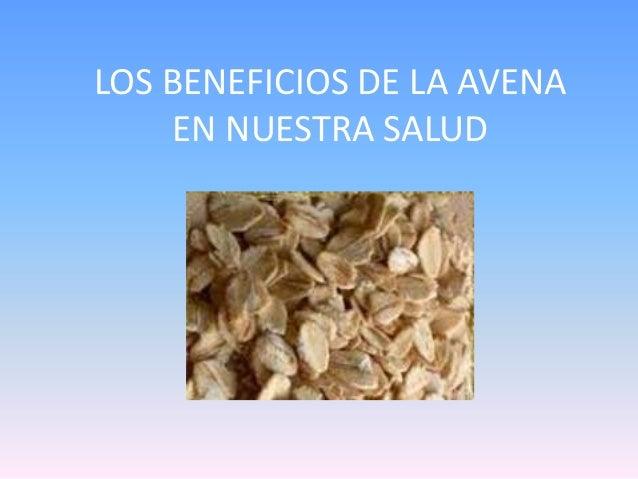 LOS BENEFICIOS DE LA AVENA EN NUESTRA SALUD