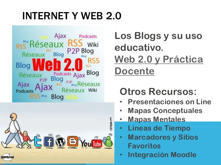 INTERNET Y WEB 2.0                Los Blogs y su uso                educativo.                Web 2.0 y Práctica          ...