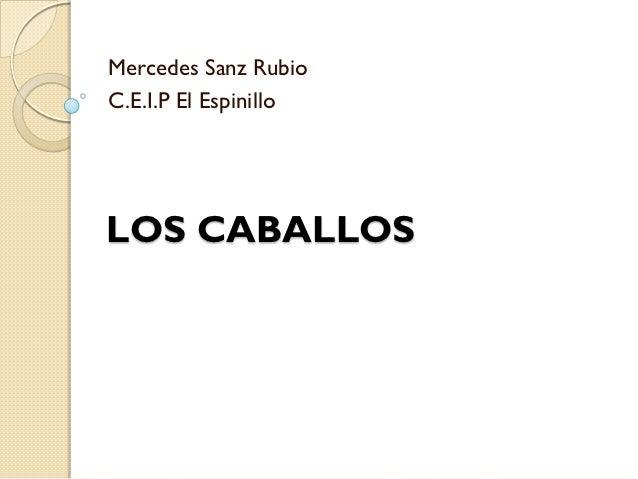 Mercedes Sanz RubioC.E.I.P El EspinilloLOS CABALLOS