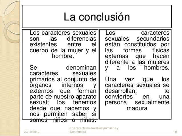 Caracteres sexuale secundarios de la mujer y el hombre
