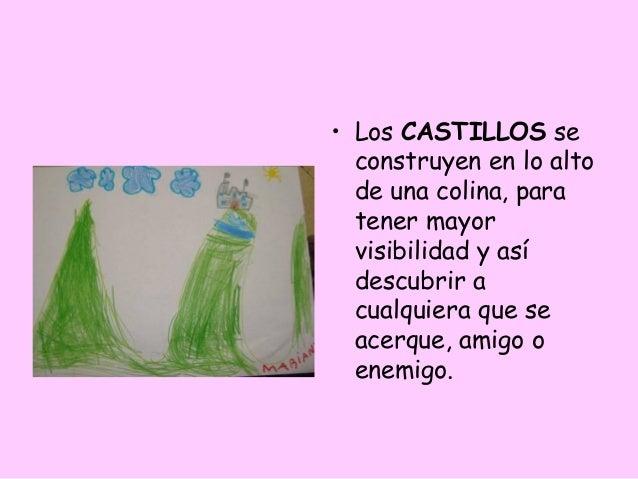 • Los CASTILLOS se  construyen en lo alto  de una colina, para  tener mayor  visibilidad y así  descubrir a  cualquiera qu...