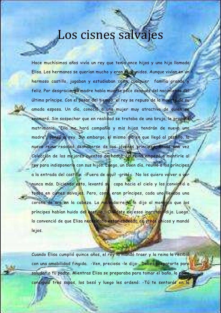-1082106-920817Los cisnes salvajes<br />Hace muchísimos años vivía un rey que tenía once hijos y una hija llamada Elisa. L...