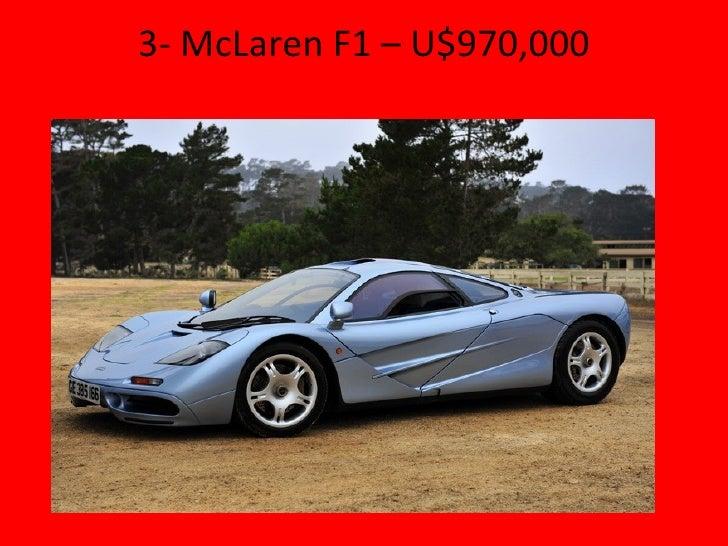 3-  McLaren F1 – U$970,000