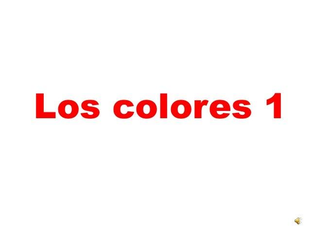 Los colores 1<br />