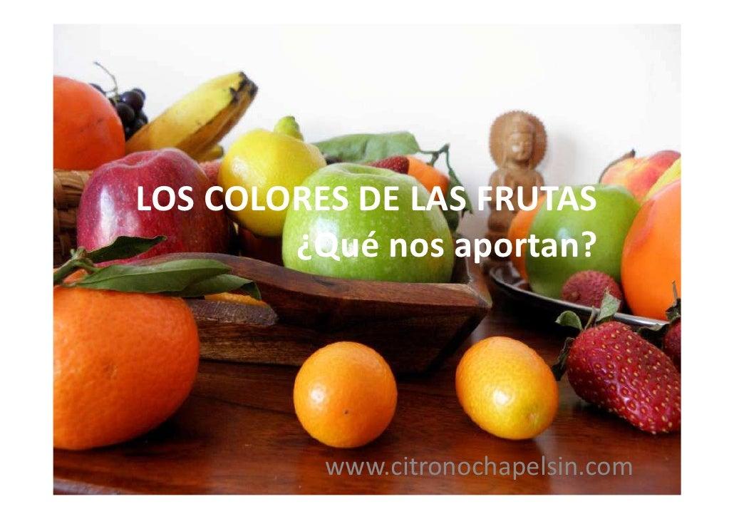 LOS COLORES DE LAS FRUTAS        ¿Qué nos aportan?          www.citronochapelsin.com
