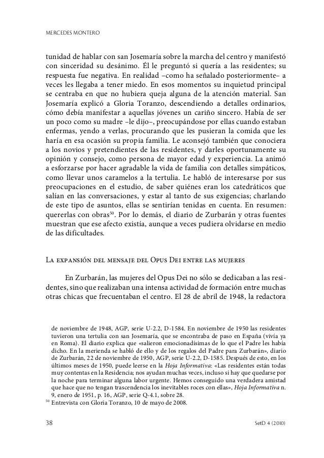 MERCEDES MONTERO 38  SetD 4 (2010) tunidad de hablar con san Josemaría sobre la marcha del centro y manifestó con sinceri...