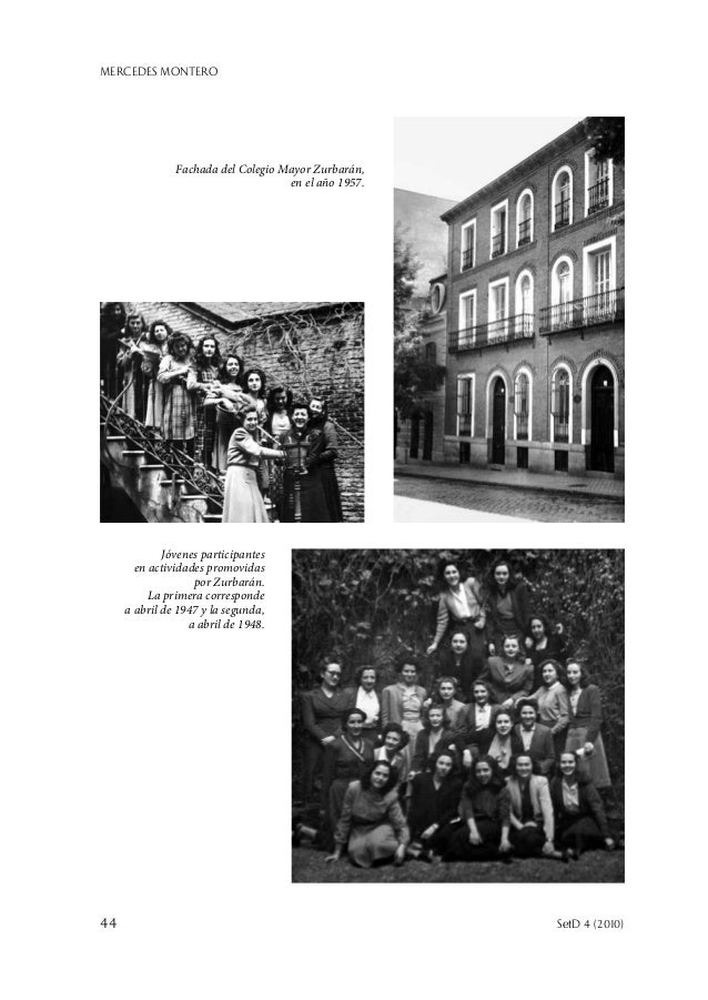MERCEDES MONTERO 44  SetD 4 (2010) Jóvenes participantes en actividades promovidas por Zurbarán. La primera corresponde a...