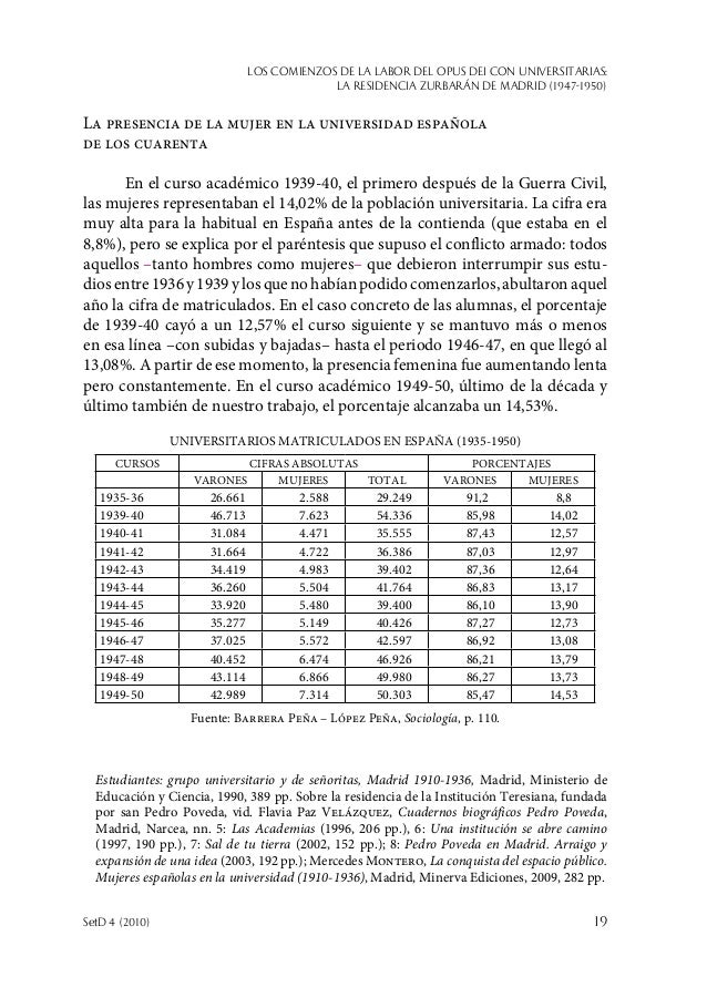 Los comienzos de la labor del Opus Dei con universitarias: la Residencia Zurbarán de Madrid (1947-1950) SetD 4 (2010)  19...