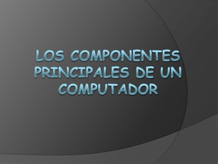 CONTENIDO   Procesador   Placa base   Disco duro   Memoria RAM   Tarjeta grafica   Tarjeta de sonido   Monitor   I...