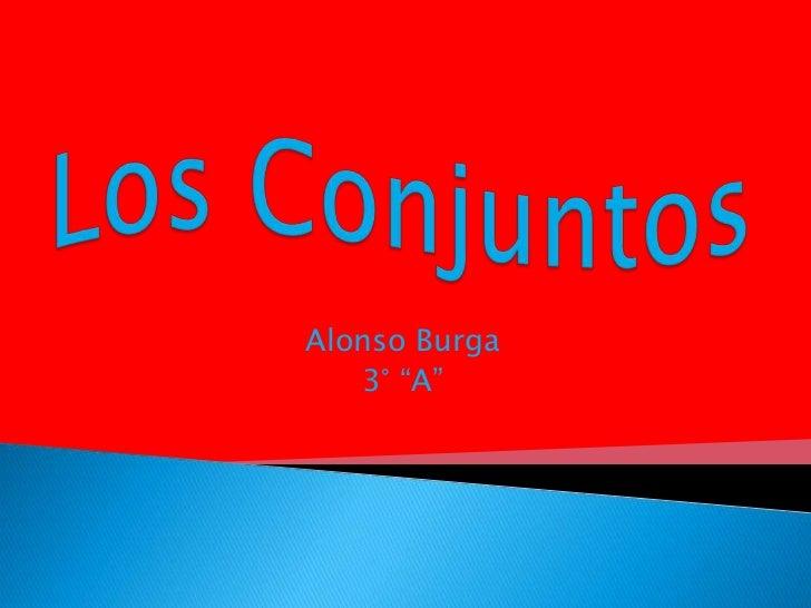 "Alonso Burga   3° ""A"""
