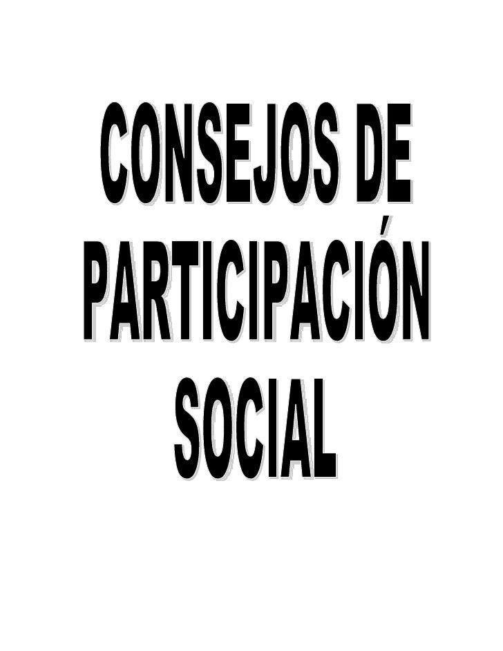 LA IMPORTANCIA DE LOS CONSEJOS DE                  PARTICIPACIÓN SOCIAL          LOS CONSEJOS DE PARTICIPACIÓN SOCIALLos c...