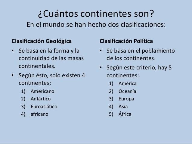 cuantos continentes tiene el mundo