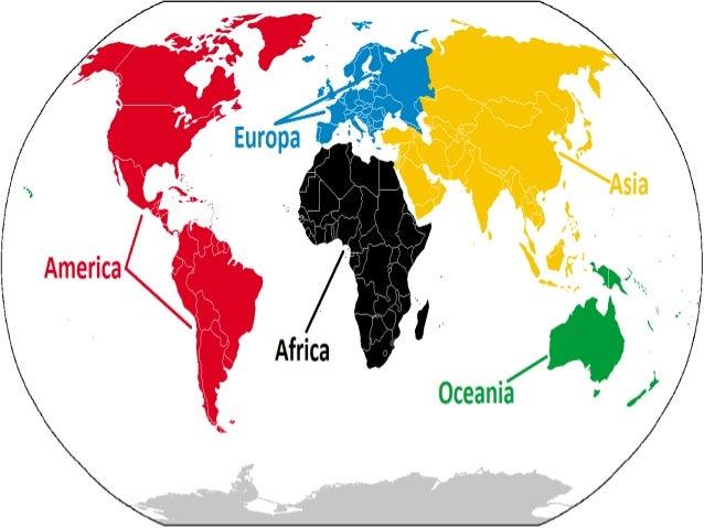 Cuales Son Los 6 Continentes Del Planisferio: Los Continentes