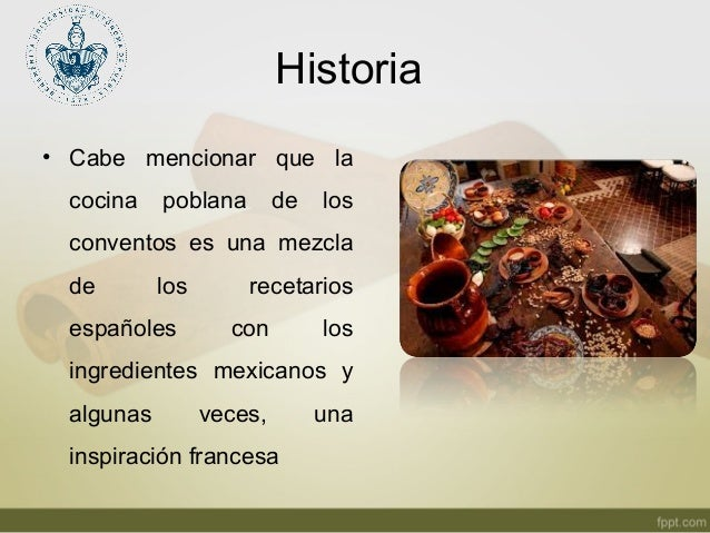 Los conventos y la gastronomia poblana for Caracteristicas de la gastronomia francesa