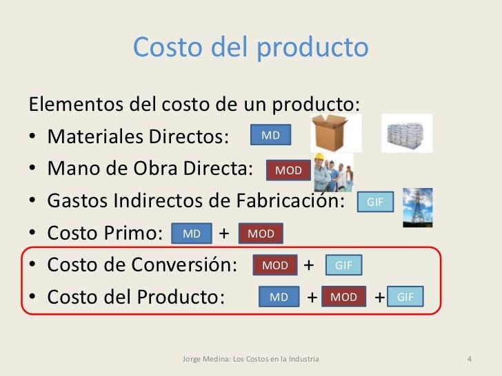 los costos en la industria