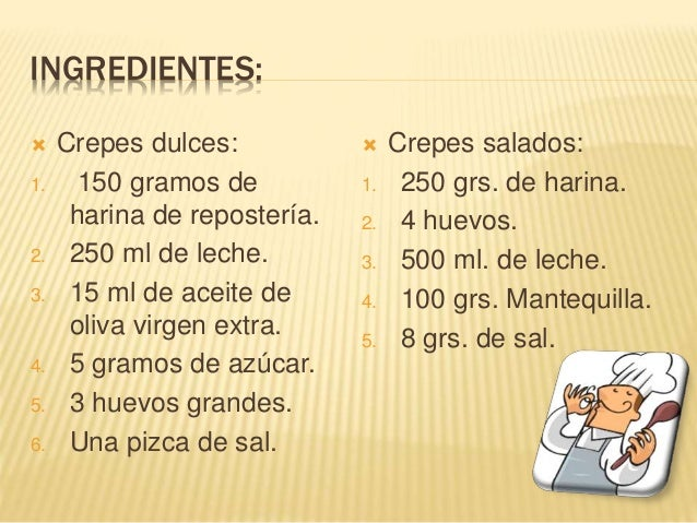 Los crepes for Ingredientes franceses