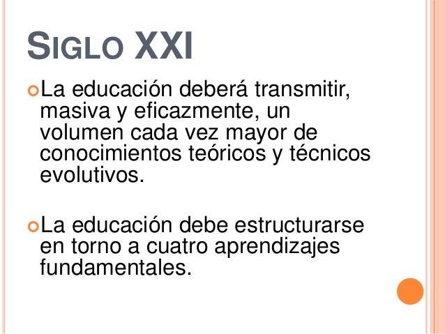 Los cuatro pilares de la educación (la educación encierra un tesoro) Slide 2