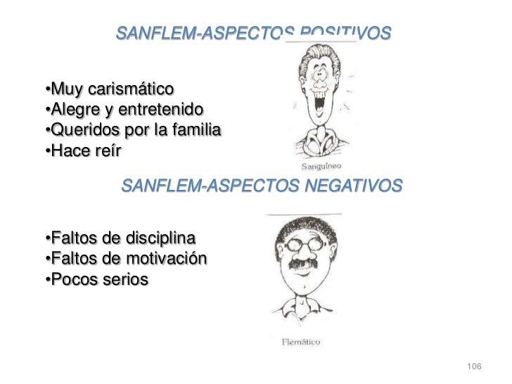 SANFLEM-ASPECTOS POSITIVOS•Muy carismático•Alegre y entretenido•Queridos por la familia•Hace reír          SANFLEM-ASPECTO...