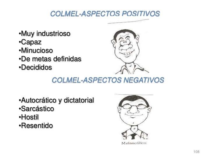 COLMEL-ASPECTOS POSITIVOS•Muy industrioso•Capaz•Minucioso•De metas definidas•Decididos           COLMEL-ASPECTOS NEGATIVOS...