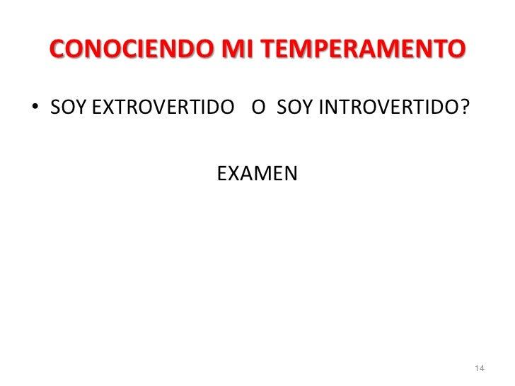CONOCIENDO MI TEMPERAMENTO• SOY EXTROVERTIDO O SOY INTROVERTIDO?                EXAMEN                                    ...