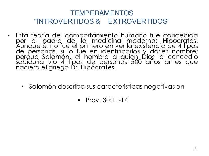 """TEMPERAMENTOS        """"INTROVERTIDOS & EXTROVERTIDOS""""• Esta teoría del comportamiento humano fue concebida  por el padre de..."""
