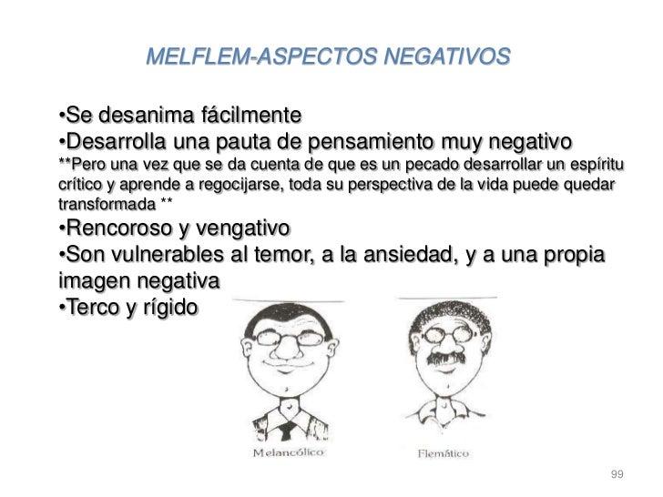 MELFLEM-ASPECTOS NEGATIVOS•Se desanima fácilmente•Desarrolla una pauta de pensamiento muy negativo**Pero una vez que se da...