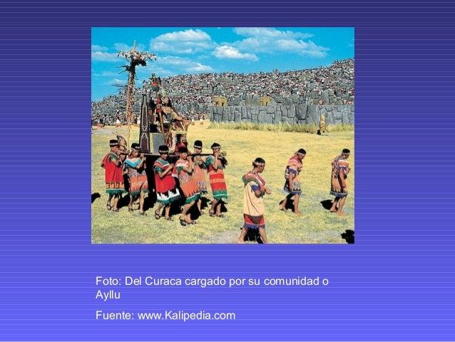 Foto: Del Curaca cargado por su comunidad o Ayllu Fuente: www.Kalipedia.com