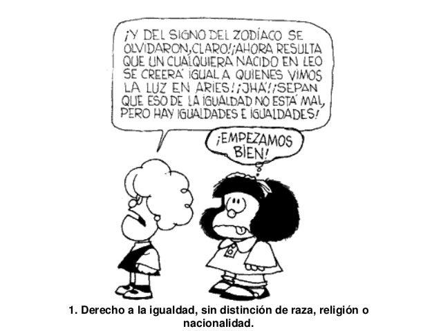 Dibujo De Nacionalidades Para Colorear: Los Derechos De La Infancia Según Mafalda