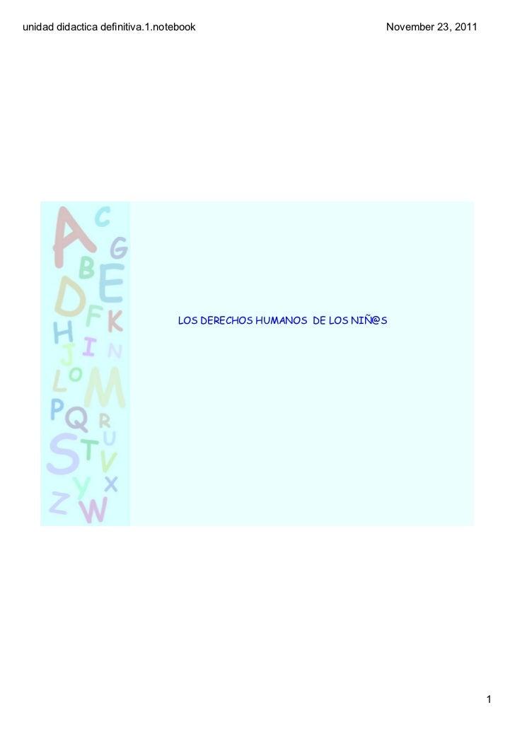 unidaddidacticadefinitiva.1.notebook                            November23,2011                                  LOS D...