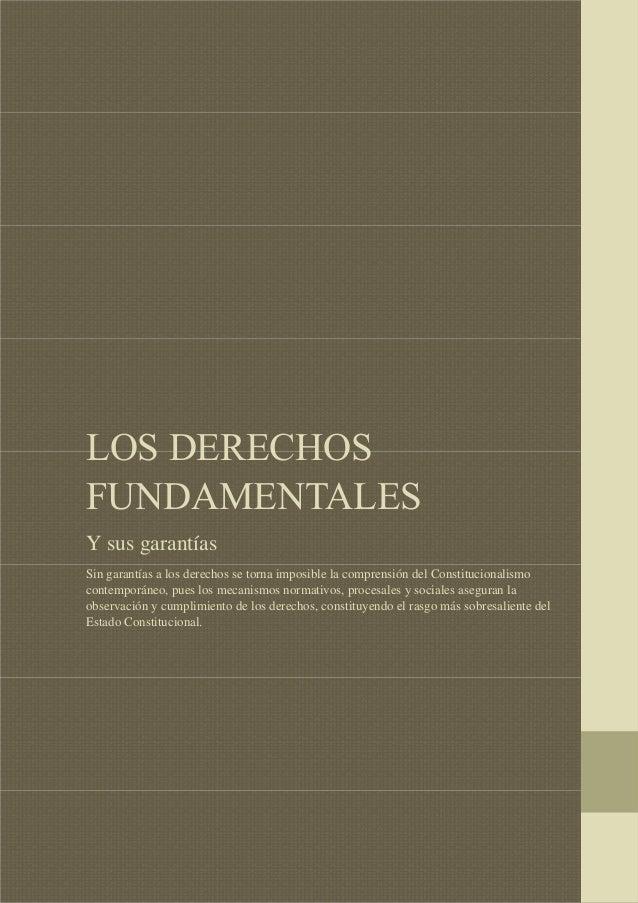 """LOS DERECHOS FUNDAMENTALES  """"LOS DERECHOS FUNDAMENTALES Y SUS GARANTÍAS""""  LOS DERECHOS FUNDAMENTALES Y sus garantías Sin g..."""