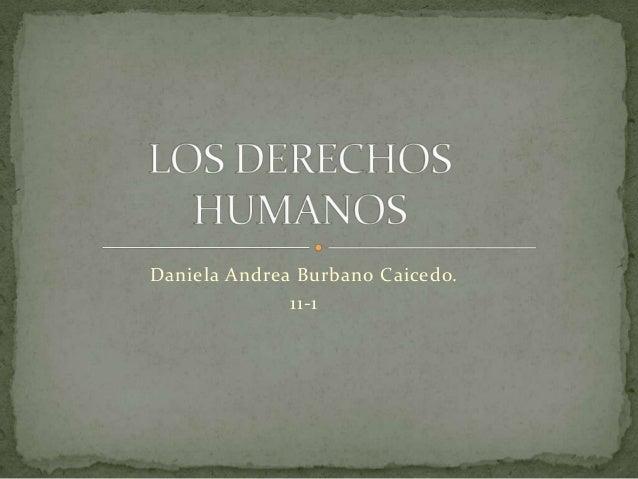 Daniela Andrea Burbano Caicedo. 11-1
