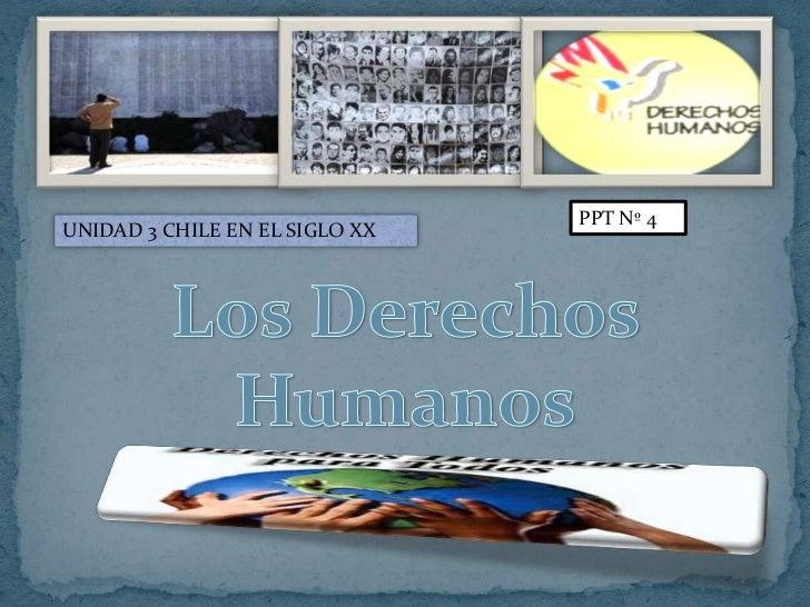 PPT Nº 4UNIDAD 3 CHILE EN EL SIGLO XX