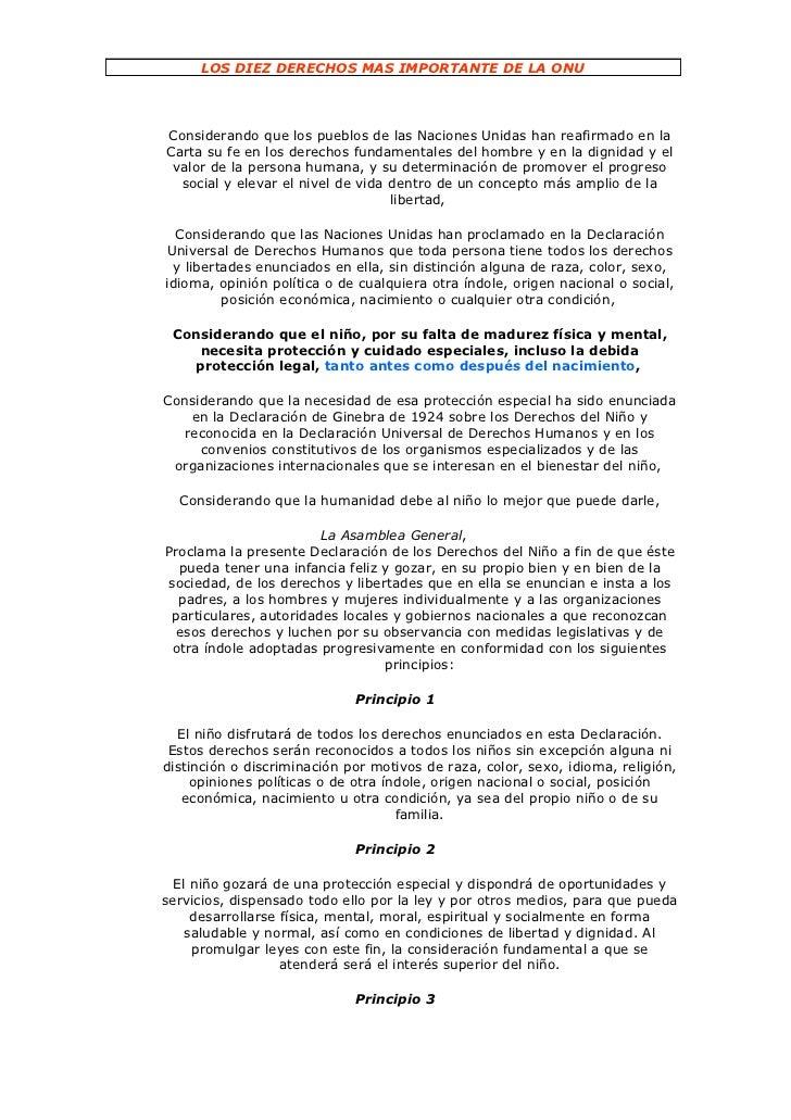 Los diez derechos mas importante de la onu diego
