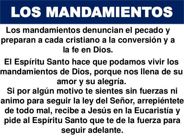 Los diez mandamientos for Ley de ministerios
