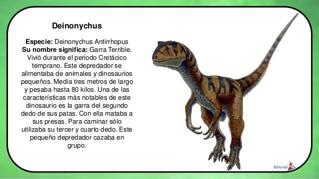 Los dinosaurios para niños