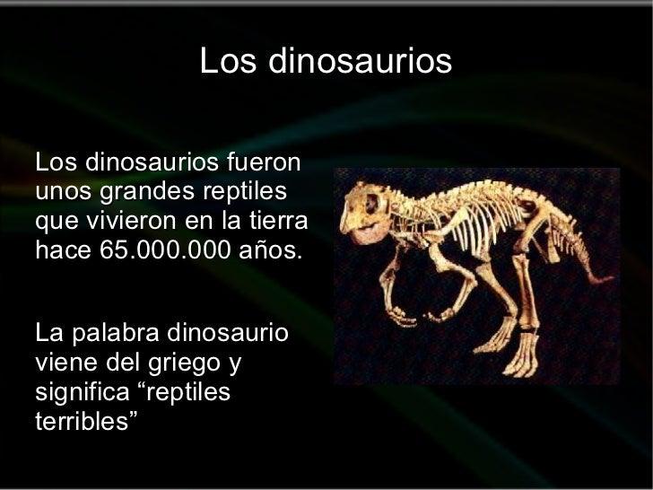 Los dinosaurios y su historia for De que lengua proviene la palabra jardin