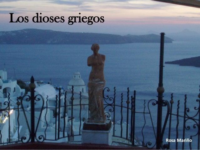Los dioses griegos Rosa Mariño