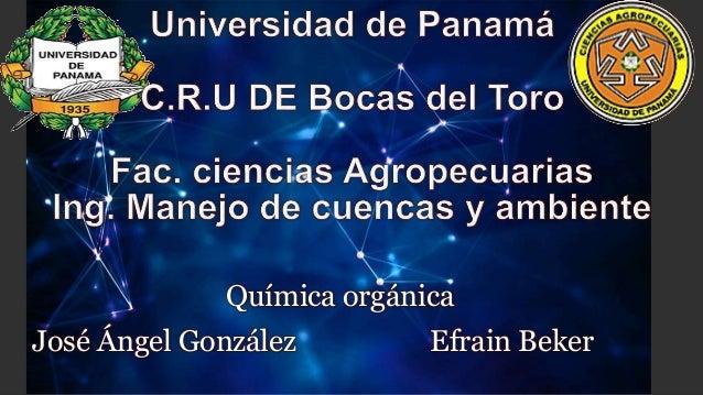 Química orgánica  José Ángel González Efrain Beker