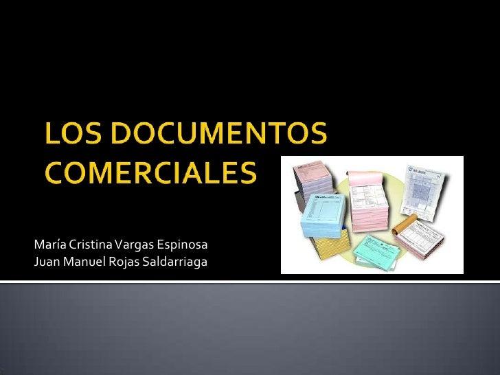 María Cristina Vargas EspinosaJuan Manuel Rojas Saldarriaga