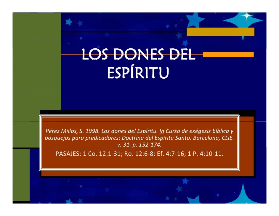 LOS DONES DEL                  ESPÍRITU                     Í   PérezMillos,S.1998.LosdonesdelEspíritu.In Cursode...