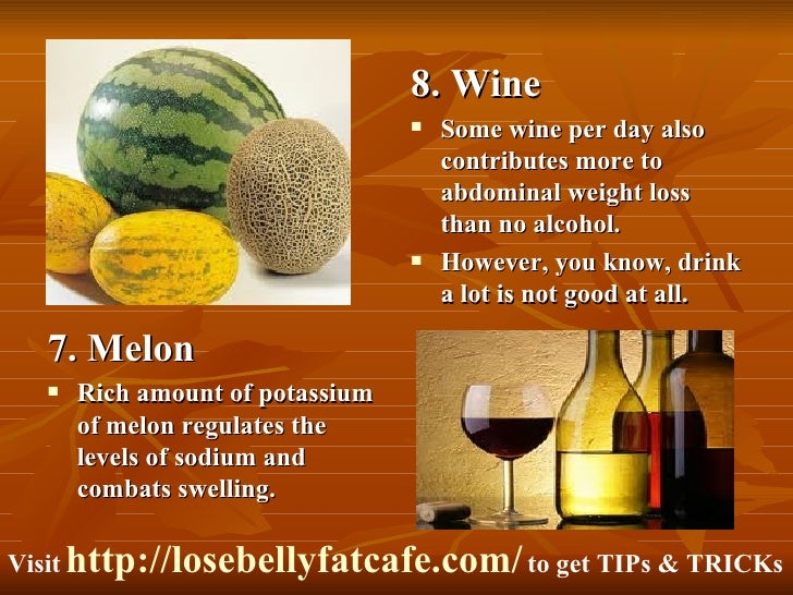 how to lose belly fat with food