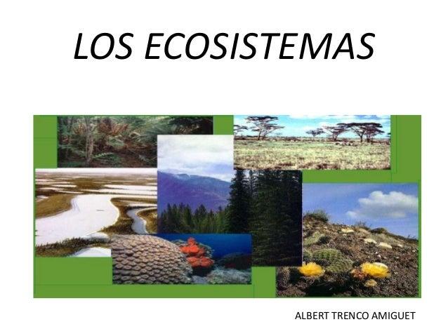 LOS ECOSISTEMAS           ALBERT TRENCO AMIGUET