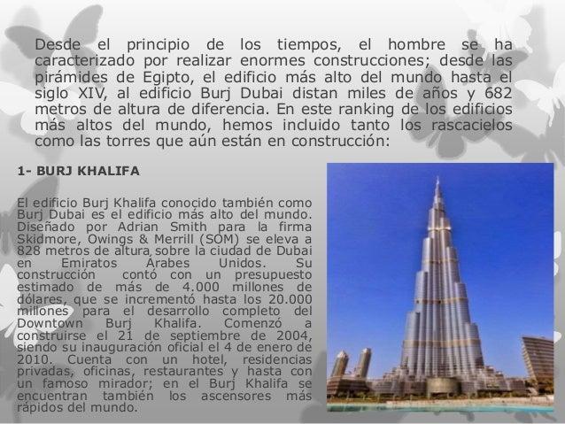 los edificios ms altos del mundo estudiante nilda quinteros desde el