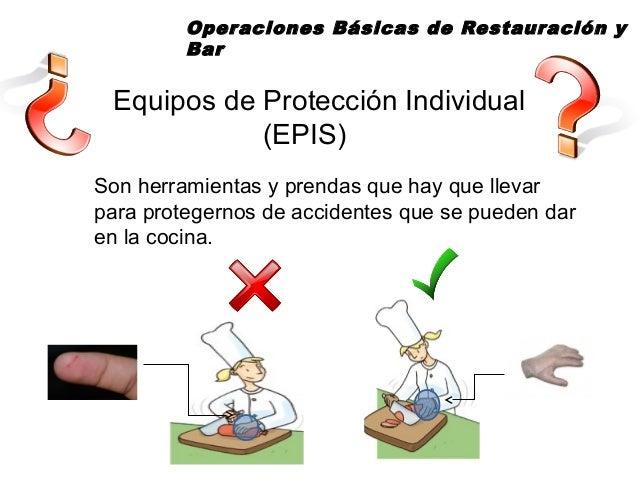 Equipos de protecci n individual en una cocina para for Equipos de cocina de segunda