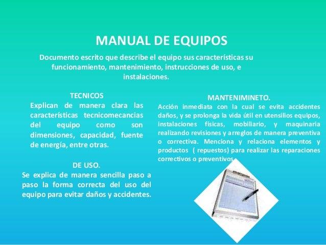 Los equipos y utensilios de trabajo for Equipo manual de cocina