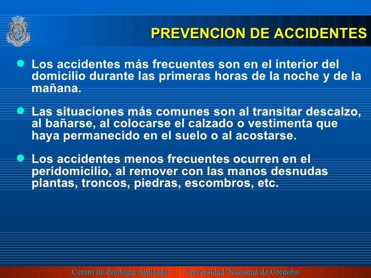 <ul><li>Los accidentes más frecuentes son en el interior del domicilio durante las primeras horas de la noche y de la maña...