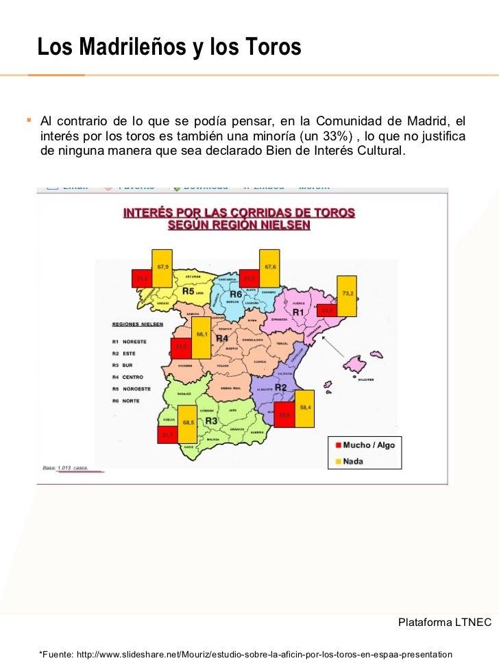 Los Madrileños y los Toros <ul><li>Al contrario de lo que se podía pensar, en la Comunidad de Madrid, el interés por los t...