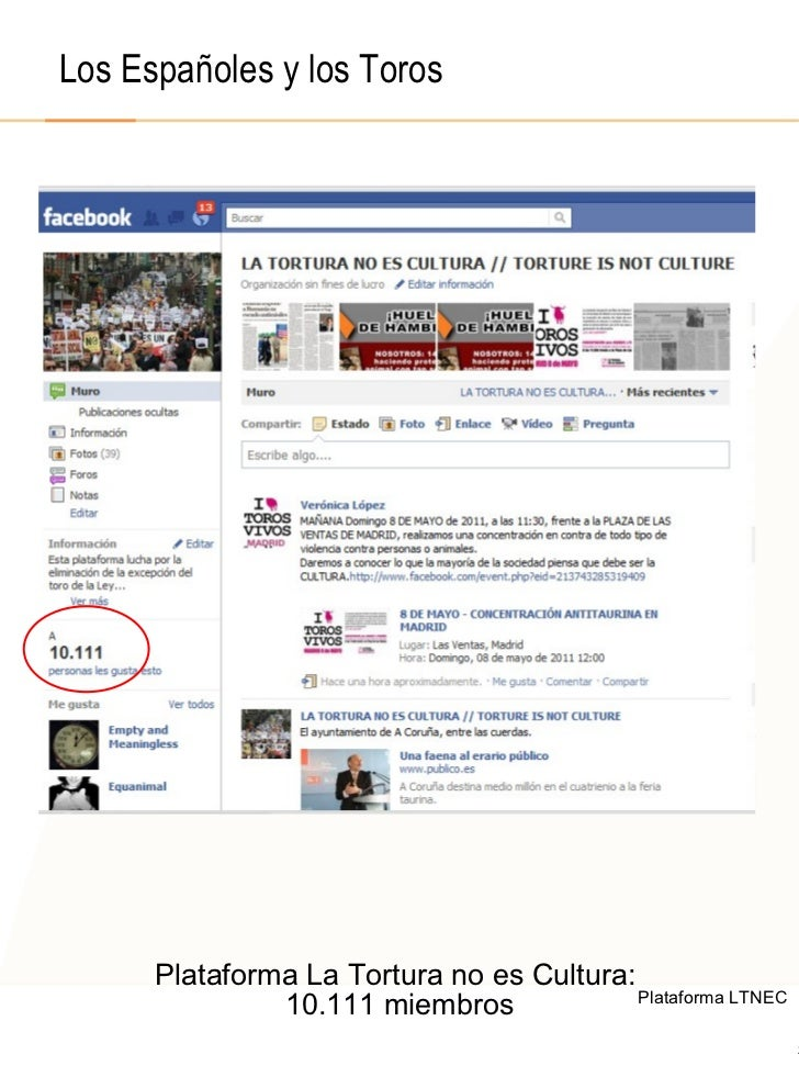 © 2008  F.A.A. All rights reserved Los Españoles y los Toros Plataforma La Tortura no es Cultura:  10.111 miembros